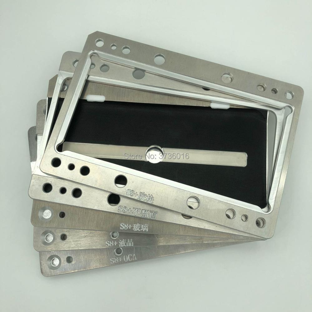 YMJ laminieren maschine form für Samsung S8 PLUS G955 ungebogenen flex mold lcd oca glas laminieren form für Samsung S8 plus reparatur