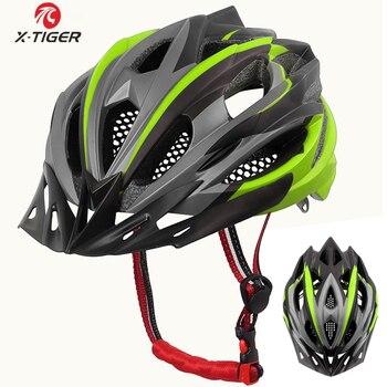 X-TIGER Ultraleve Capacete de Ciclismo EPS + PC Capa MTB Bicicleta Capacete Integralmente-mold capacete Ciclismo Mountain Bike Capacete Da Bicicleta MTB Bicicleta capacete