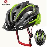 X-TIGER Ultraleicht Radfahren Helm EPS + PC Abdeckung MTB Fahrrad Helm Integral-form Radfahren Berg Fahrrad Helm MTB Bike helm
