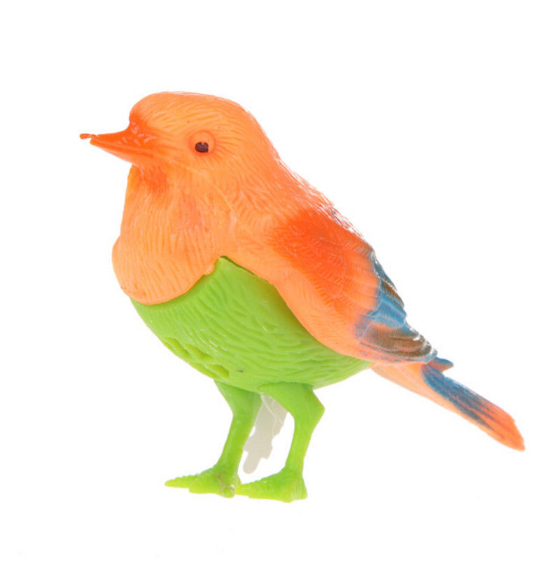 1Pc Cute Plastic Sound Voice Control Activate Chirping Singing Bird Funny Toy Gift Wholesale Random Color Hot Sale