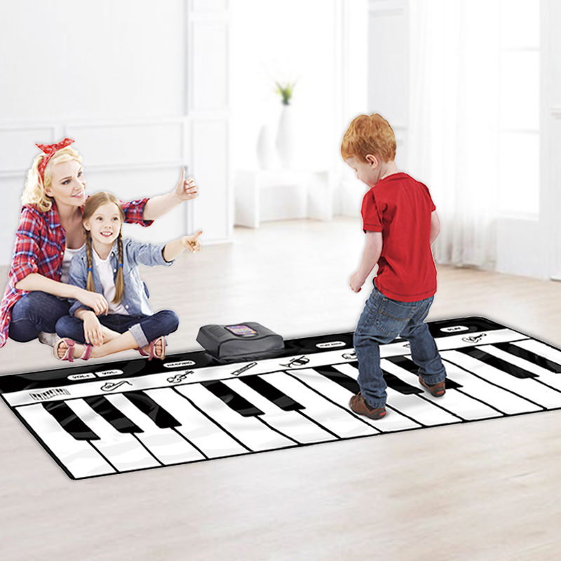 Large Size Keyboards Dancing Mat Piano Keyboard Blanket Musical Toys Foot Touchable Piano Blanket 24 Keys