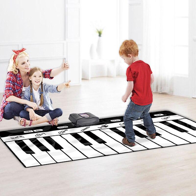 Grande taille claviers tapis de danse Piano clavier couverture jouets musicaux pied Touchable Piano couverture 24 clés téléphone connexion