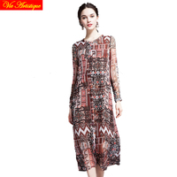Women S Render Skater Dress Lady S Long Casual Office Loose Fit Silk Dresses Red Boho