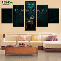 Modular Picture HD Prints Top Rated Canvas Wall Printing 5 Panels Naruto Animated Cartoon Characters Paintings