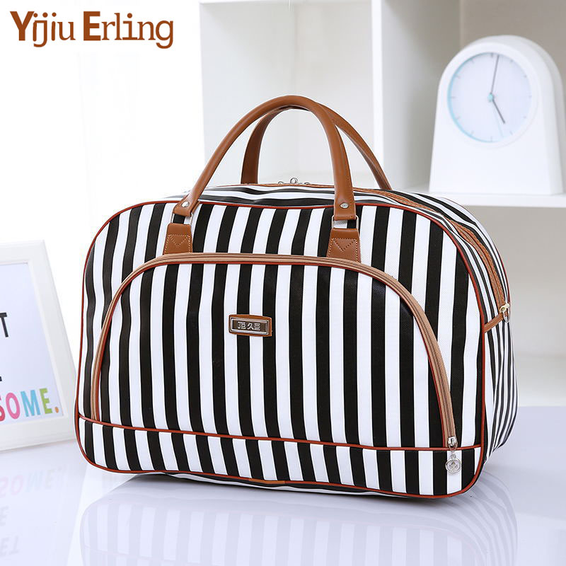 Women Travel Bags 2019 Fashion Pu Leather Large Capacity Waterproof Print Luggage Duffle Bag Casual Travel Bags  Overnight Bag