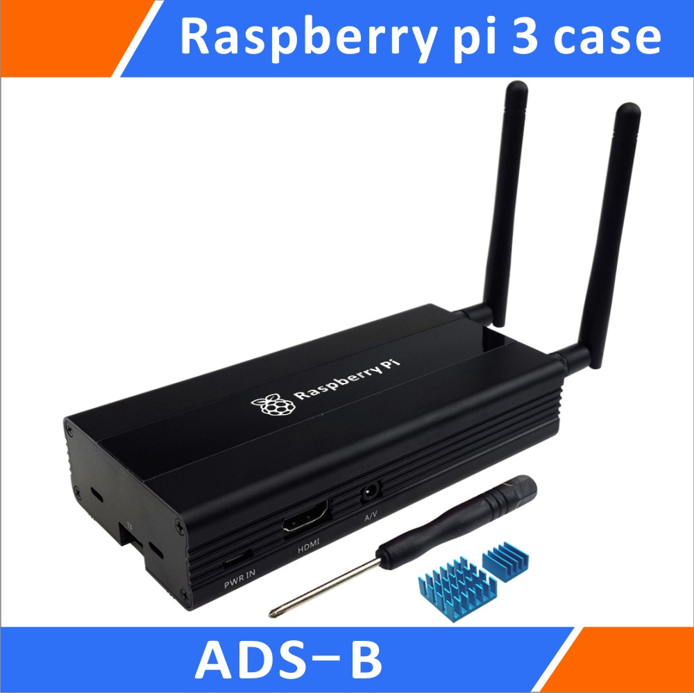 Aluminum Case For ADS-B Raspberry Pi 3 B+ Stratux DIY Kit Black