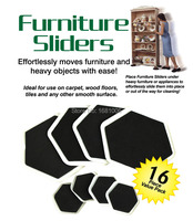 Sexangular Furniture Sliders 8 Large Slider And 8small Easy Moves Furniture And Heavy Objects With Ease