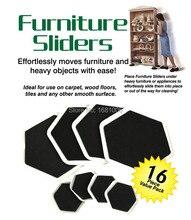 Sexangular Meubles sliders, 8 grand curseur et 8 petit, Facile moves meubles et des objets lourds avec facilité, protéger les planchers FP001