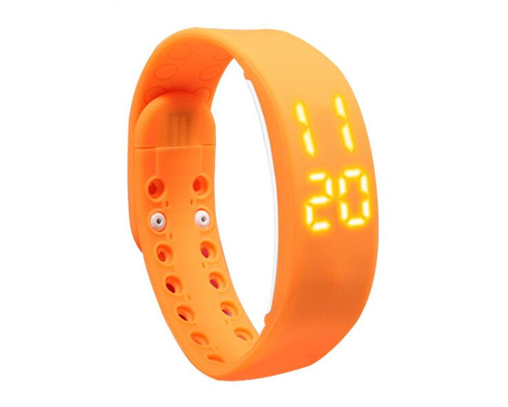 2PCS/LOT WAOUKS The smart hand ring 3D pedometer movement ring led watch electronic pedometer
