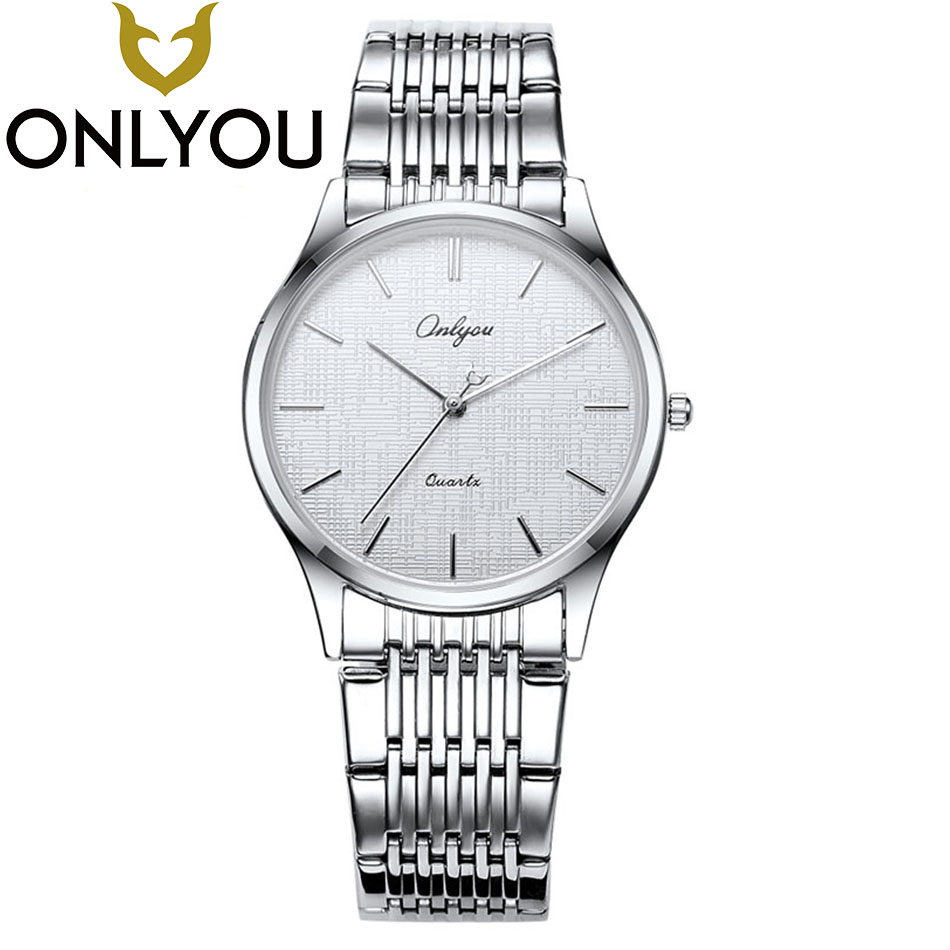 ONLYOU Hot Fashion Creative Watches Women Men Quartz-Watch 2017 Brand Unique Dial Design Lovers' Watch Stainless Steel Clock 2017 men s gift enmex unique design leather creative dial changing patterns simple fashion for young peoples quartz watches