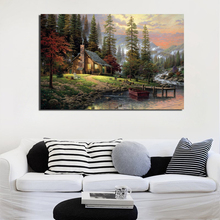 цена на Thomas Kinkade Paintings Canvas Painting Print Living Room Home Decoration Artwork Modern Wall Art Oil Painting Posters Pictures
