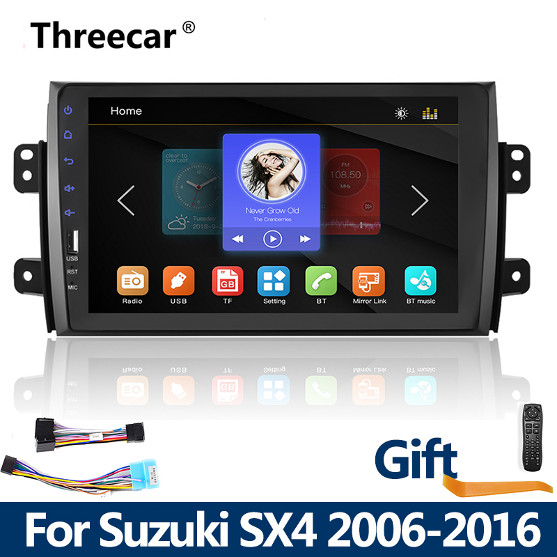 <font><b>2din</b></font> Car Radio <font><b>9</b></font> inch Touch mirrorlink <font><b>Android</b></font> phone for Suzuki SX4 2006-20162 DIN MP5 Player <font><b>Autoradio</b></font> Bluetooth tape recorder image