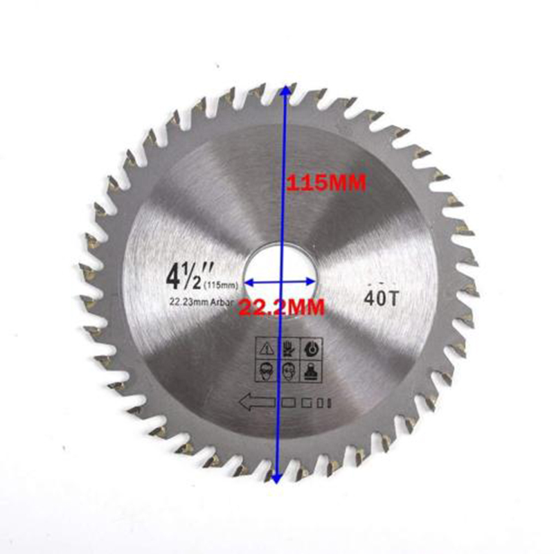 1pc 115mm 40T TCT Circular Saw Blade Wheel Discs Cutter Metal Plastic For Wood Carving Disc For Angle Grinder