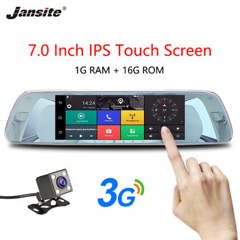 """Jansite 3G 7"""" Touch Screen Dash Cam Android 5.0 Car DVR GPS Navigation Car Video Recorder Reverse image Rear view Camera Mirror"""