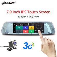 """Jansite 3G 7 """"Touch Screen Dash Cam Android 5.0 Auto DVR GPS di Navigazione per Auto Video Recorder immagine Inversa macchina Fotografica di retrovisione Dello Specchio"""