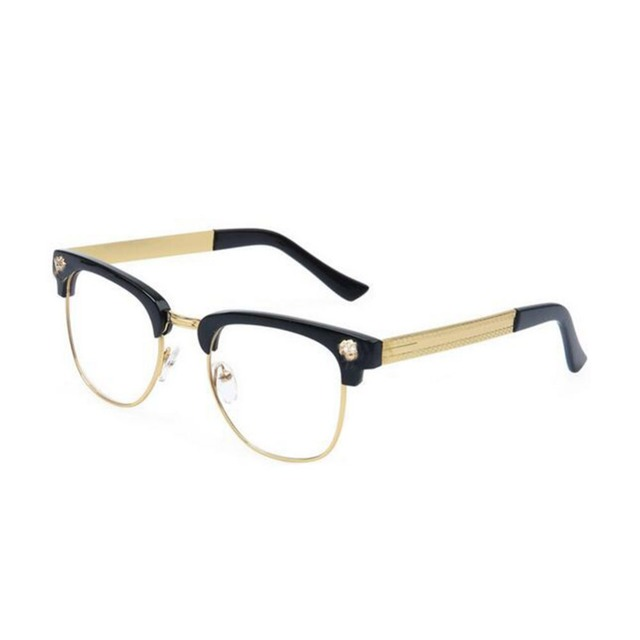 Unisex Radiation Protection Optical Classical Clear Lens Half Frame Eye Glasses