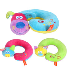 Baby Pillows Cute Cartoon Child Travel Safety Seat Pillow Soft Neck Protection Round Animal Cat Pig Dog Shape