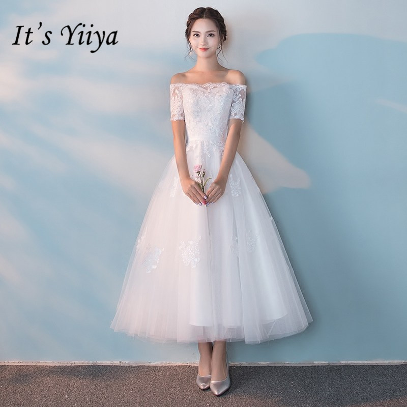 It s YiiY New Simple Lace Bridesmaid Dresses Fashion Boat Neck A-line Party  Frocks YG012 17b9e8a570f9