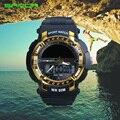 Sanda moda reloj de los hombres a prueba de agua solar de primeras marcas de lujo reloj de los hombres del ejército militar de choque reloj de pulsera relogio masculino