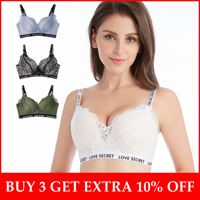 fac7c1db4 High Street Lace Bras for Women Comfortable No Wire Women Brassiere Lace  Lingerie A B cup