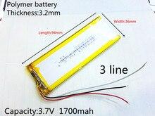 RNEW 323696 XWD 323696 P 323694 3.8 V 1700 MAH 1600 MAH batería li-león para china clon MTK teléfono goophone I6 6 S IP6