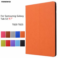 YNMIWEI Tablet Case For Samsung Tab S3 9 7 T820 T825 Ultra Thin Tree Texture Flip
