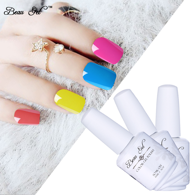 Beau Gel 15ml Nail Polish Choose Any Color Uv Curing Manicure Enamel
