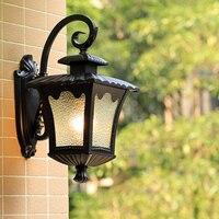 Americano impermeable al aire libre iluminación villa al aire libre de la pared de la lámpara creativa retro jardín balcón al aire libre de la pared de la lámpara LW527527PY|Lámparas de pared| |  -
