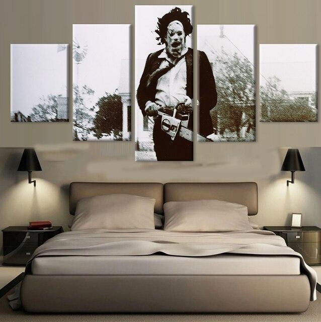 5 panel HD printed modular painting zombie canvas print art modern ...