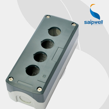 ABS Material Grey 4 Holes Push Button Control Station Switch Box/Waterproof Push Button Box,168*68*54mm