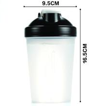 400ml Plastic Whey Protein Shaker Mixer Sports Bottle Whisk Ball Multifunction Water Bottles Portable Portable BPA Free