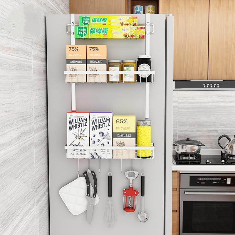 Appliances:  Bathroom Pendant Shower Shelves 304 Stainless Steel Punch-free Shelf Kitchen Refrigerator Racks Spice Racks Kitchen Appliances - Martin's & Co