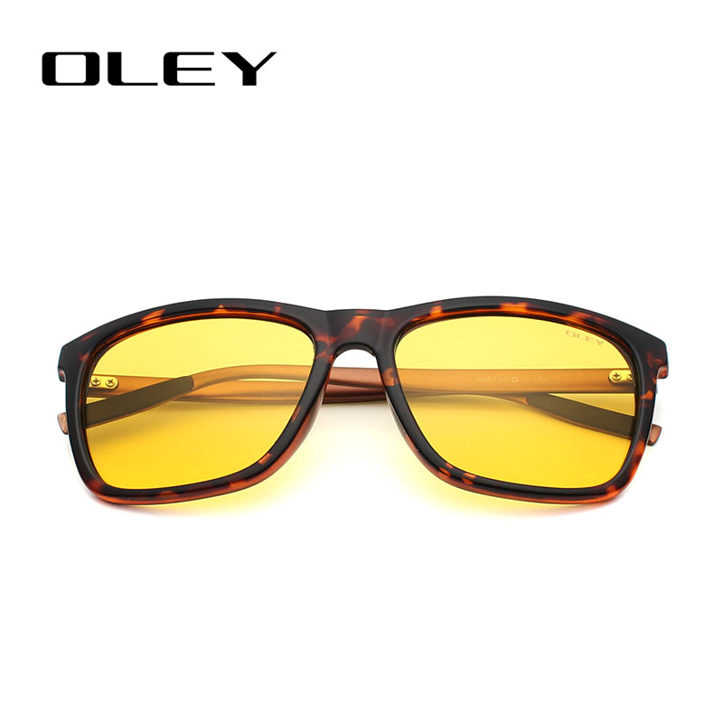 a1ca6d46e5c OLEY Men Polarized Night Driving Sunglasses Women Brand Designer Yellow  Lens Night Vision Driving Glasses Goggles Reduce Glare-in Sunglasses from  Apparel ...