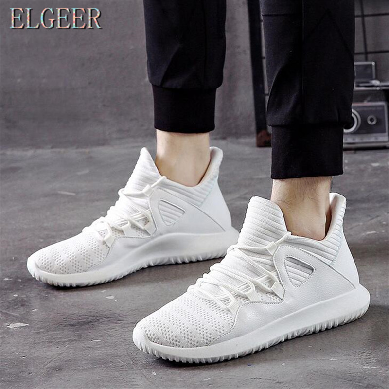 2018 spring and autumn new casual men's shoes flying mesh lace with - Men's Shoes - Photo 6