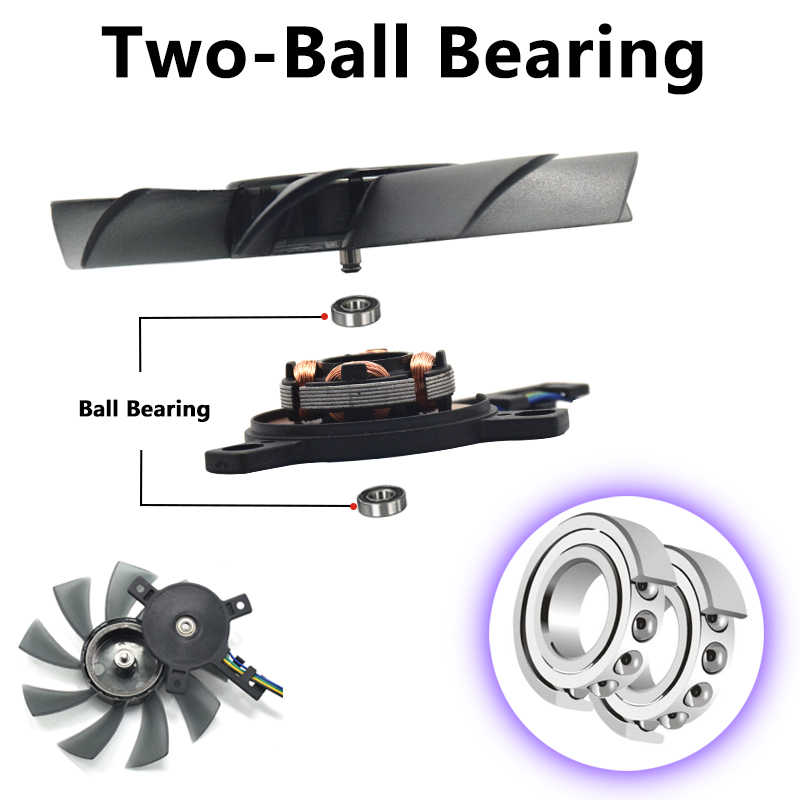 DIY 85 MM T129215SU 4Pin HAI-Ball Bearing Fan Cooler Cho Gigabyte GeForce GTX 1050 Ti 1060 1070 1080 RX 480 470 570 580 G1 Thẻ