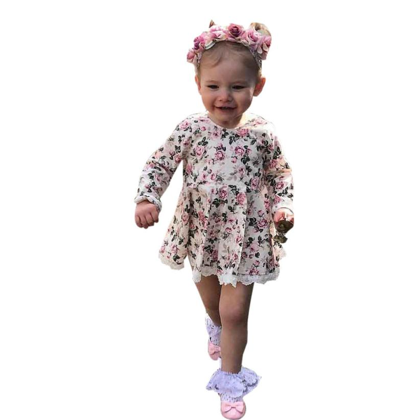 Toddler Kids Baby Girl Floral Lace Dress Pageant Princess Dresses Clothes D50