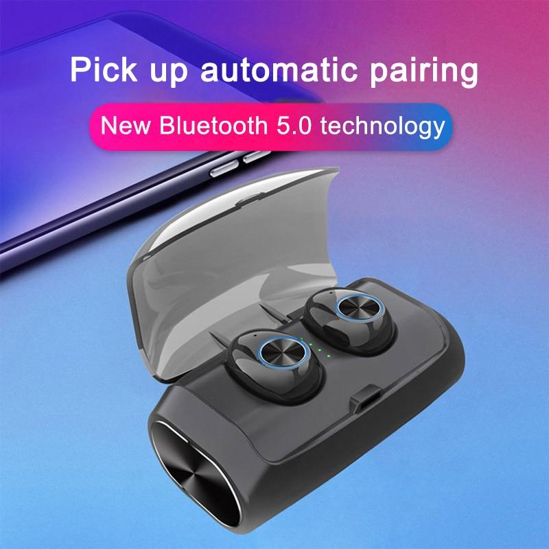 Bluetooth 5.0 Mini Earphone Waterproof Wireless Sports In Ear Earbuds with Charging Case GDeals