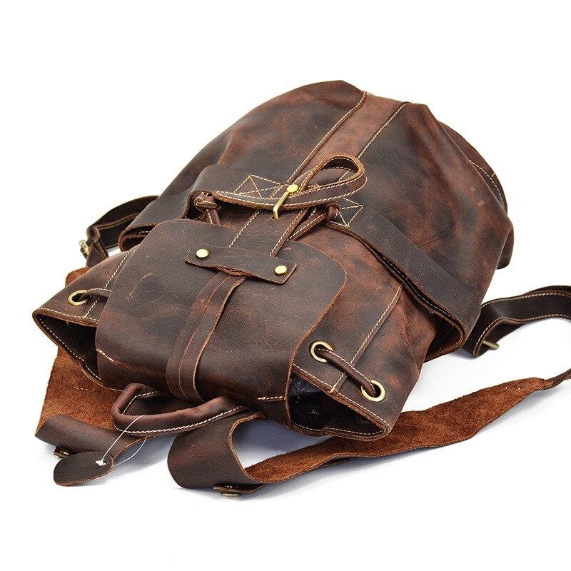 AETOO Crazy horse pelle sacchetto degli uomini zaino in pelle testa di mucca strato di uomini di pelle zaino Europa e lo stile Degli Stati Uniti zaino-in Zaini da Valigie e borse su  Gruppo 3
