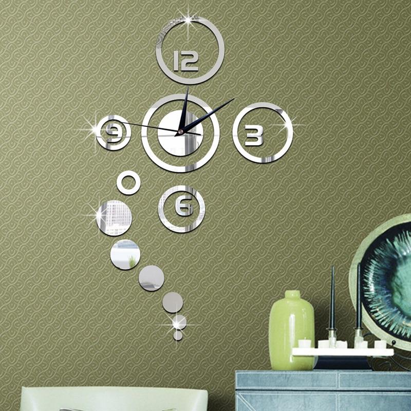 Creative Mirror Stickers 3D DIY Moment Quartz Needle Clock Watch Wall Clocks Acrylic Home DIY Bedroom Modern Home Decoration10
