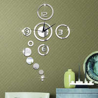 Kreative Spiegel Aufkleber 3D DIY Moment Quarz Nadel Uhr Uhr Wanduhren Acryl Hause DIY Schlafzimmer Moderne Home Decoration10
