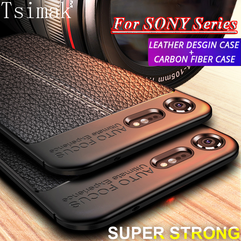 <font><b>Case</b></font> For Sony <font><b>Xperia</b></font> XA1 XA2 XA3 Ultra10 Plus <font><b>1</b></font> XZ1 XZS XZ Premium XZ2 Compact XZ4 Mini XZ3 Cover Back Silicone Bumper Coque image