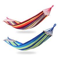 Portable Camping Garden Beach Travel Hammock Outdoor Ultralight Leisure Swing Bed Rollover Proof Canvas Sticks Shammock