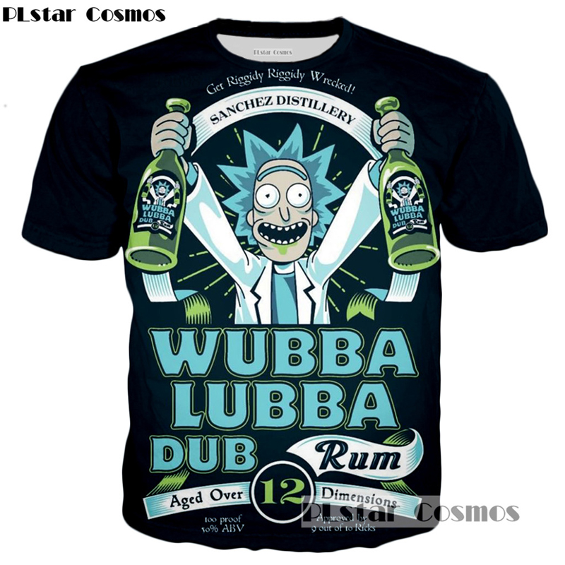 PLstar Cosmos brand Rick and Morty T-shirt New Style Anime 3D print Shirt O-Neck Short Sleeve T Shirt Rick Morty Fans T Shirts
