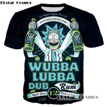 PLstar Cosmos brand Rick and Morty T shirt New Style Anime 3D print Shirt O Neck