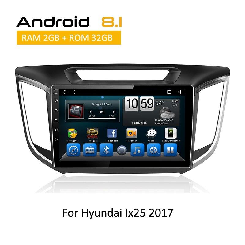 2 din Android для HYUNDAI ix25 creta 2017 автомобилей gps Навигационная медиа радиоприемник с iPod MP4 MP5 Wi Fi Bluetooth SWC Стерео