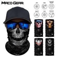 3D Skull Seamless Magic Neck Gaiter Face Shield Warmer Fishing Cycling Bike Bandana Headband Tube Scarf Men Women Mask Skiing