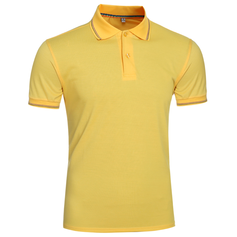 NEGIZBER 2019 New Summer Fashion Men's   POLOS   Shirt Solid Color Casual Top Slim Short Sleeve   POLOS   Shirt Men