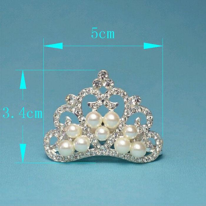 (50pcs/lot) 50MM DIY Wedding Accessories Bling Pearl Crown ...