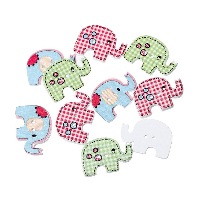 500 unids venta al por mayor colores mezclados elefante tema Animal ...