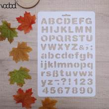 letter alphabet number layering stencils for wall scrapbooking painting template stamps photo album pochoir cards crafts